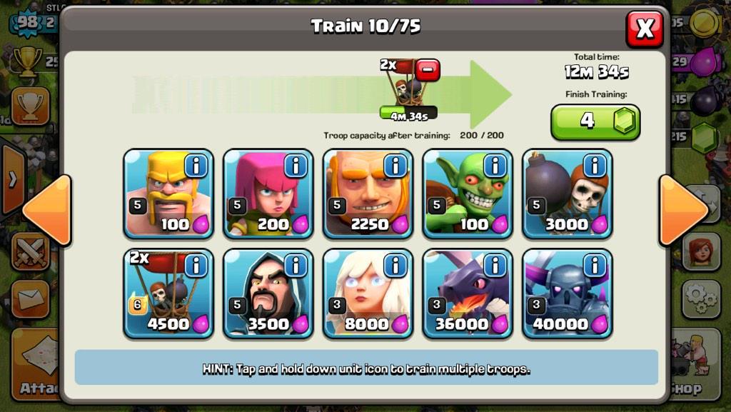 Giants Now U... Clash Of Clans Level 4 Giants
