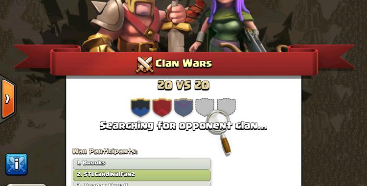 Clan war matchmaking criteria