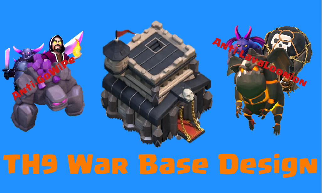 Best th9 war base design for 2015 clash for dummies