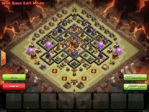 Town Hall 10 War Base 2015 Anti LavaLoonion