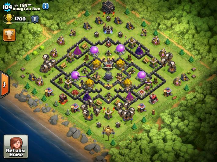 Clash of Clans TH9 Farming Base