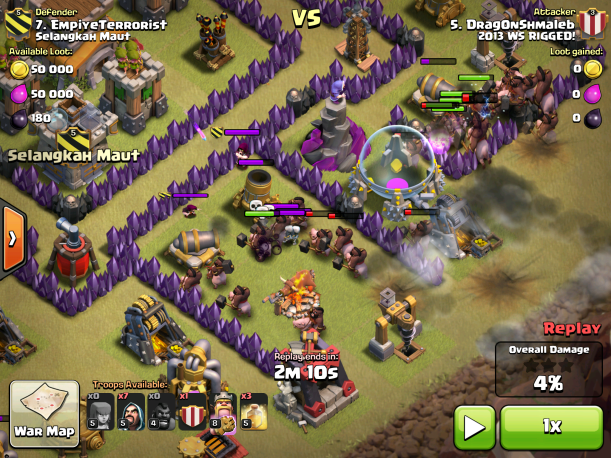 Clash of Clans Clan Castle Lure War