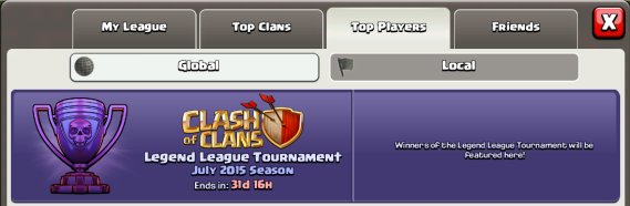 Legend League Tournament Clash of Clans June 2015 Update