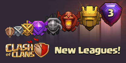 New League Clash of Clans June 2015 Update Titan Legend