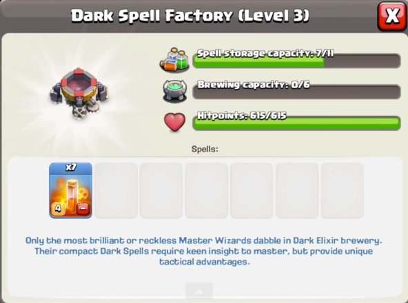 Poison Spell Dark Spell Factory June 2015 Update Clash of Clans