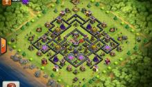 Clash of Clans TH9 Farming Base 2015