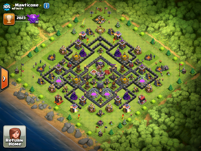Clash of Clans TH9 Farming Base 2015