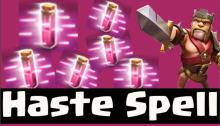 Haste Spell Strategy Guide Clash of Clans Dark Spells