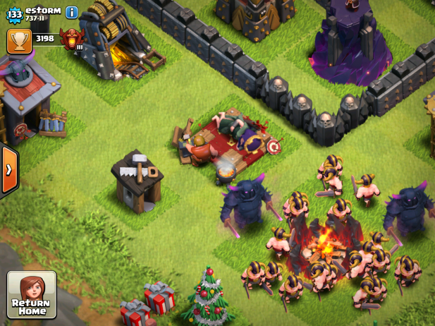 Clash of Clans Upgrading Heroes in War 2015