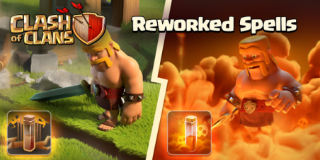 New Update 2015 Clash of Clans Reworked Spells