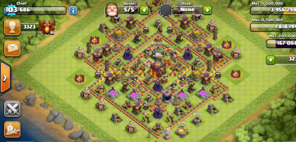 Bigger Village Clash of Clans