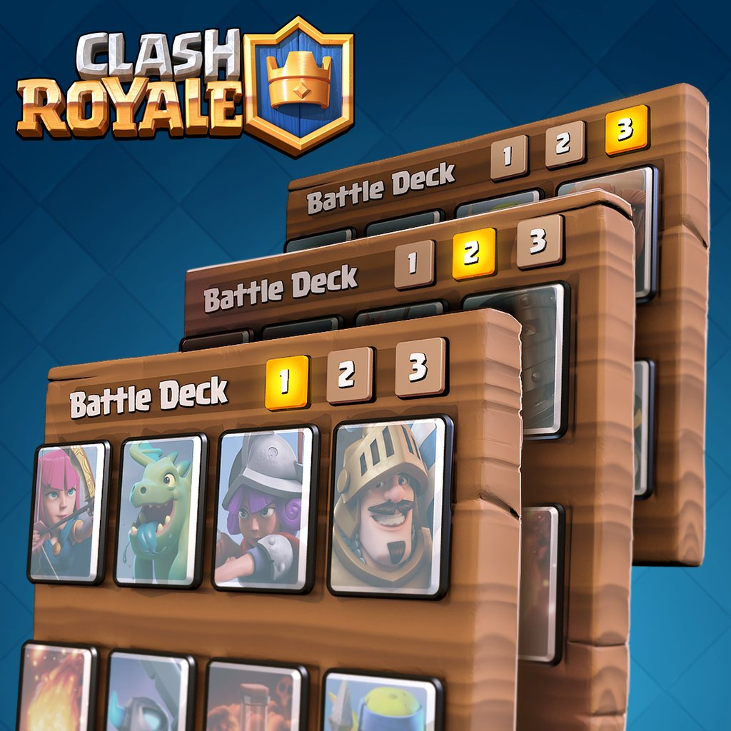 Multiple battle decks in clash royale clash for dummies for Clash royale deck arc x
