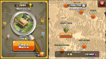 Single Player Maps Clash of Clans
