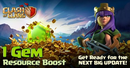 Clash of Clans One Gem Boost