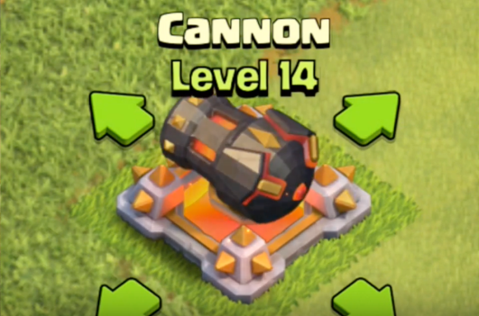 Level 14 Cannon May Update 2016 Clash of Clans