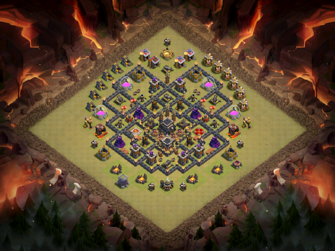 New TH9 War Base Full