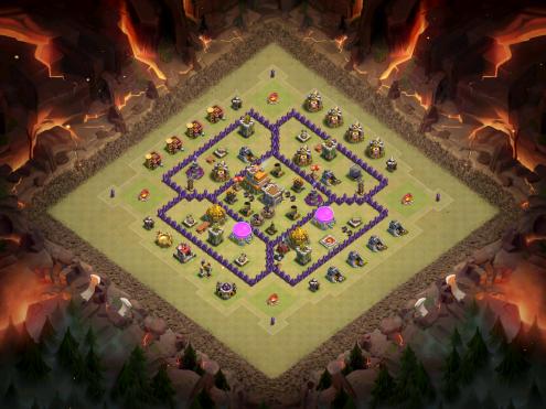 Town Hall 7 Anti Hogs War Base Full