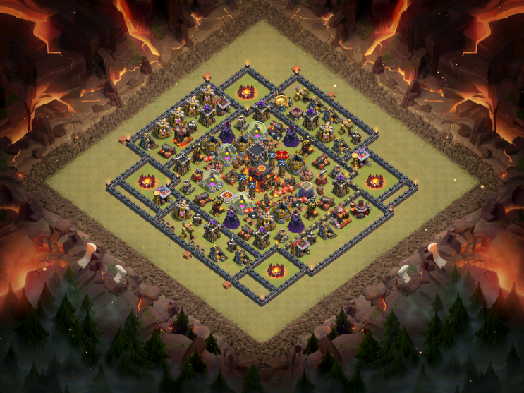 TH10 War Base Anti-GoWiPe Full 2016