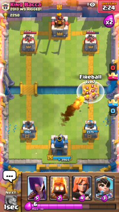 Clash Royale Barbarians and Fireball