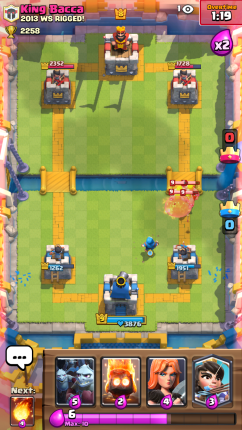 Clash Royale Barbarians and Wizard