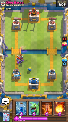 Minion Horde vs Wizard Clash Royale