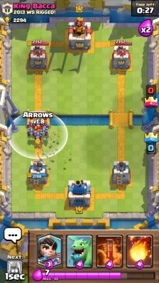 Minion Horde vs Arrows Clash Royale