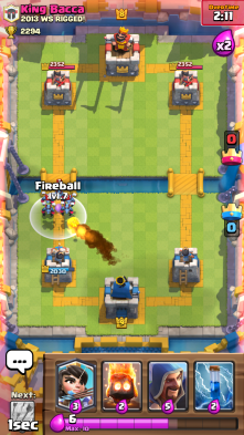 Minion Horde vs Fireball Clash Royale