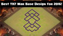 Best TH7 War Base Design for 2016!