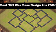 Best TH9 War Base Design for 2016!