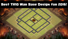 Best TH10 War Base Design 2016