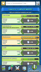 Tournaments Clash Royale