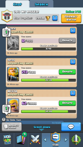 Clash Royale Donate Cards