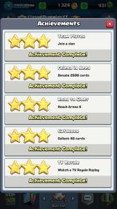 Clash Royale Completing Achievements