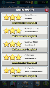 Clash Royale Completing Achievements