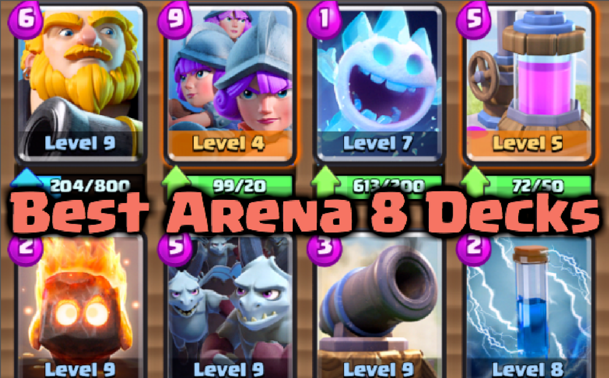 3 Best Clash Royale Arena 8 Decks Clash For Dummies