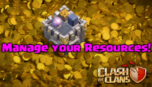 Manage Resources Clash of Clans