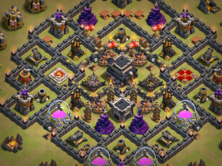 Clash of Clans Hidden Tesla War Strategy