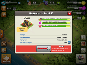 Clash of Clans Upgrade Order X-Bows