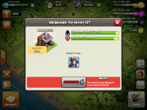 Clash of Clans Upgrade Order Barracks