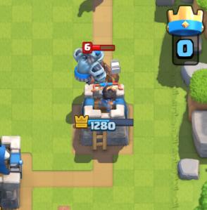 Clash Royale Mega Minion on Defense
