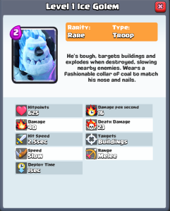 Clash Royale Ice Golem New Card