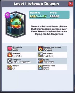 Clash Royale Inferno Dragon LEAKED