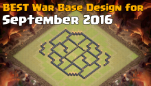Clash of Clans Best War Base Design September 2016