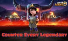 Clash Royale Counter Every Legendary Sparky Lava Hound Miner Princess Ice Wizard Lumberjack Log