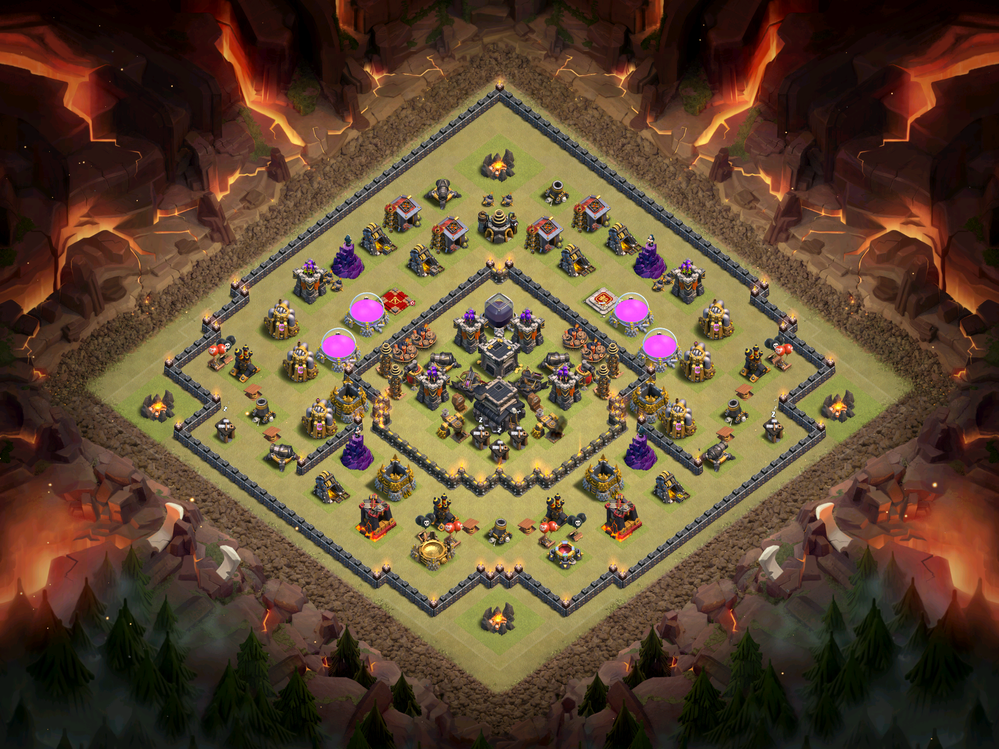 Best Th9 War Base Design For October 2016 Clash For Dummies
