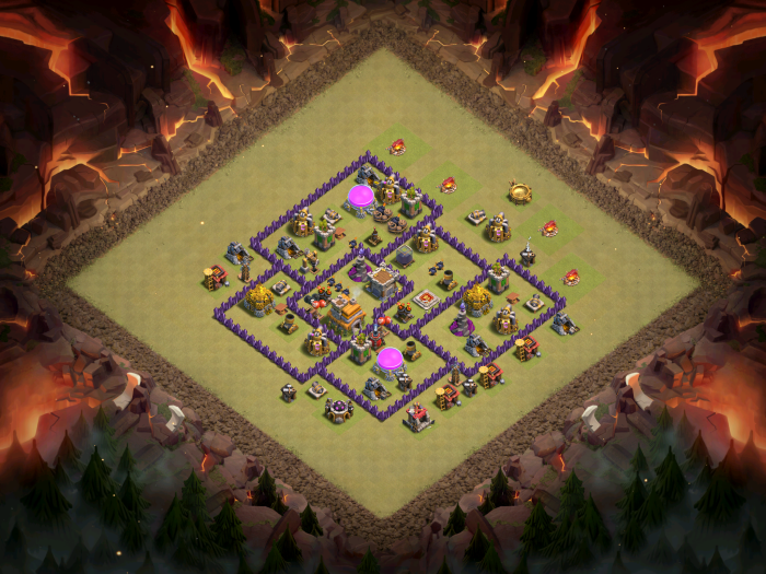 Clash of Clans Best TH7 Anti-Three Star Base October 2016