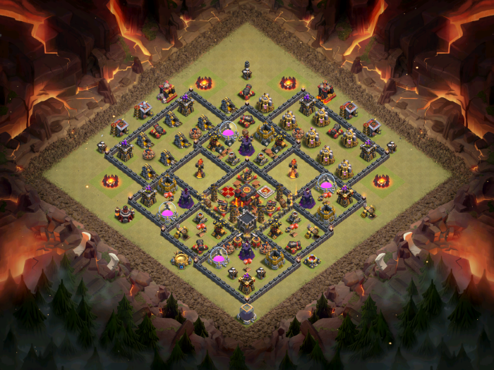 Clash of Clans Best TH10 Anti-Bowler Base October 2016