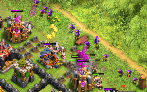 Clash of Clans How to Spread Barch