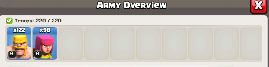 Clash of Clans Barch Army Composition