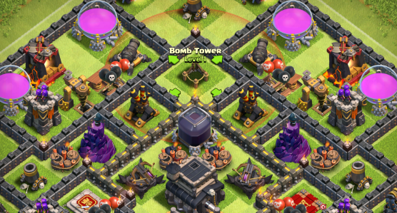 Clash of Clans Bomb Tower Base Design Farming